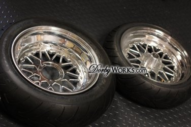 Honda GROM MESH LOVE - 12x4 front / 13x5 rear .- wheels, hubs, tire mounted package