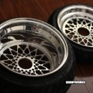 """MESH R "" custom rims super staggered setup 12 front / 13 rear - TIRES MOUNTED"