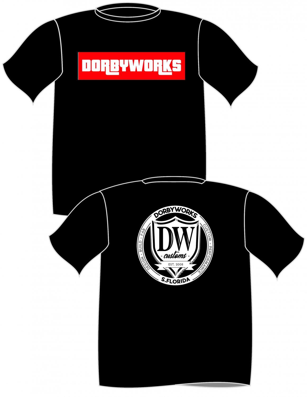 Dorbyworks tshirt Black -size s - xl - free shipping