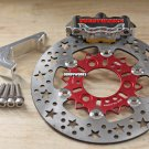 Honda Ruckus Dorbyworks 4 piston BILLET caliper kit CHROME plated