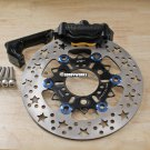 Honda Ruckus Dorbyworks 4 piston BILLET caliper kit BLACK