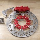 Honda Ruckus Dorbyworks 4 piston billet caliper kit RED