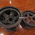CUSTOM ROKSTAR WHEEL set Gunmetal metallic 12x4 front / 12x8 rear Honda ruckus