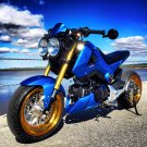 Honda GROM MESH LOVE - 12x4 front / 13x5 rear .- wheels, hubs, tire mounted package - GOLD LIPS