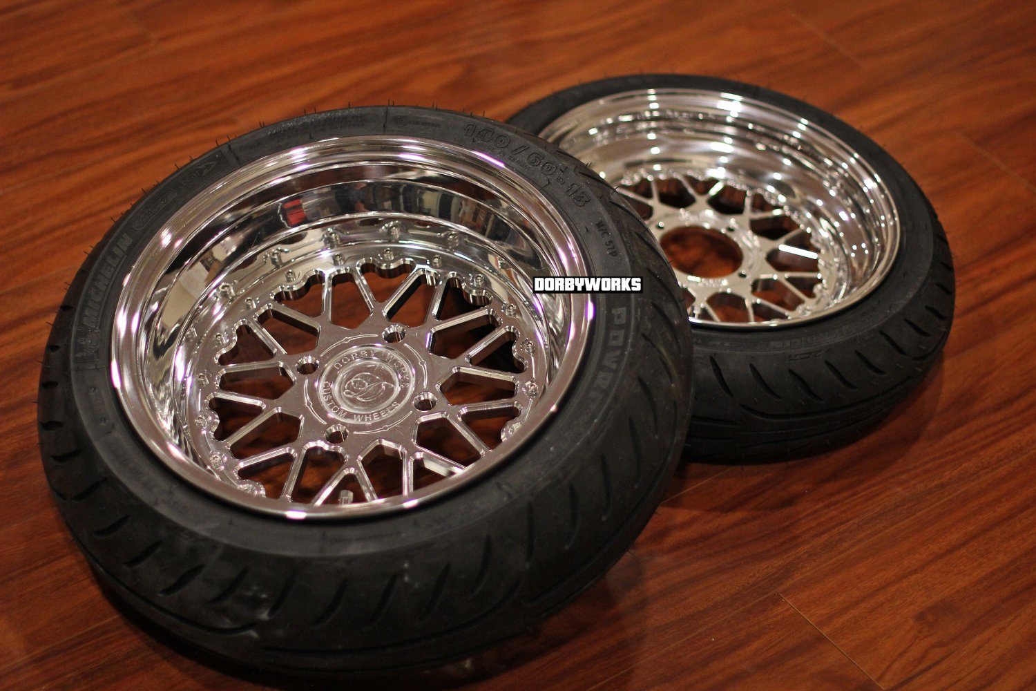 """Honda Ruckus wheels ruckus CARVING EDITION MESH LOVE  12X4 """"/ 13X5 """" tires included mounted"""