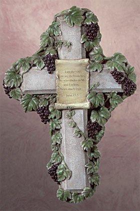 176 - Stone Finish Wall Cross