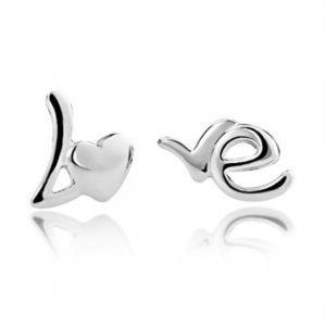 925 Sterling Silver LOVE Wording Earrings - Letters Earrings  - Minimalist Jewelry - Teens Gift
