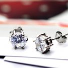 925 Sterling Silver CZ Diamond Earrings - Diamond Ear Stud - Bridal Jewelry