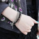♥ BIG BANG (Jiyong) SUPER JUNIOR (Kim Hee Chul) - Multilayer Black Pearl Bracelet