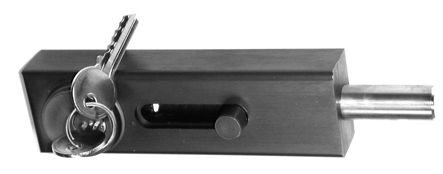 Military Grade Aluminum >> Grade 1 Surface Mounted Keyed Slide Bolt With Durontic Finish