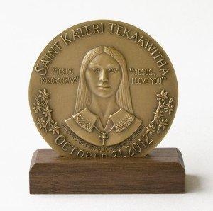 Saint Kateri Commemorative Medallion - Medium (2.5 inch).  (Original Price: $50)