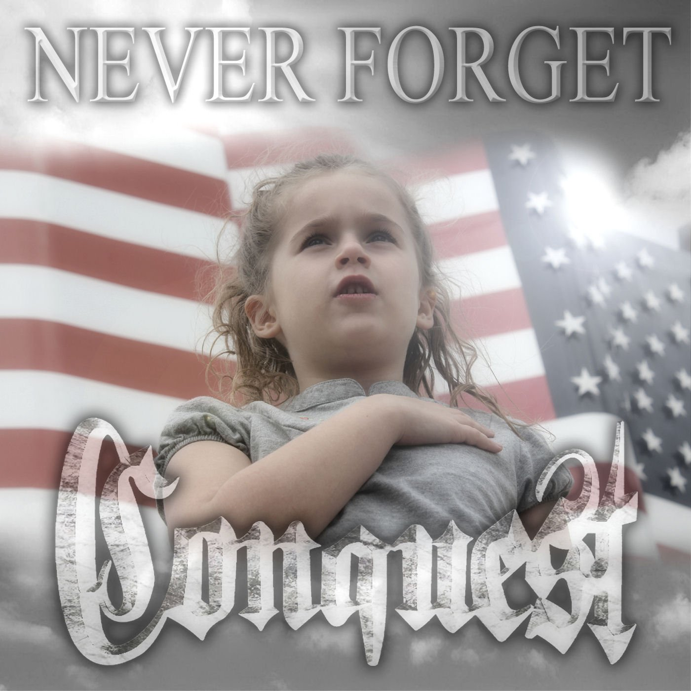 Never Forget by Conquest USB Wristband