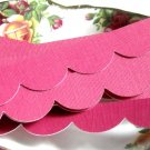Fuschia Scallop Borders/ set of 8
