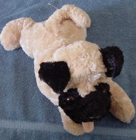 "Aurora Dog Floppy Stuffed Plush 12"" Soft Laying down"