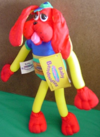 """Baby Bendoodles Funnoodle Dawggie Dog Stuffed Plush 11"""""""