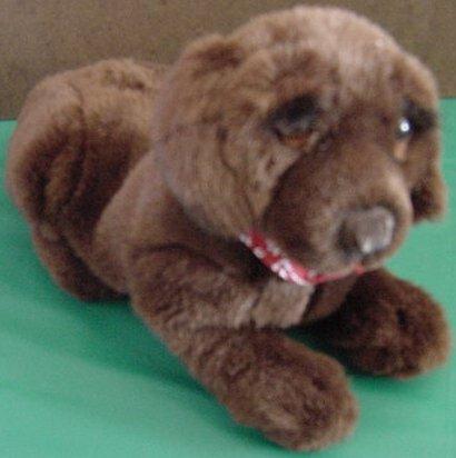 """Dakin Huggables Brown Dog Barking Stuffed Plush 9"""""""