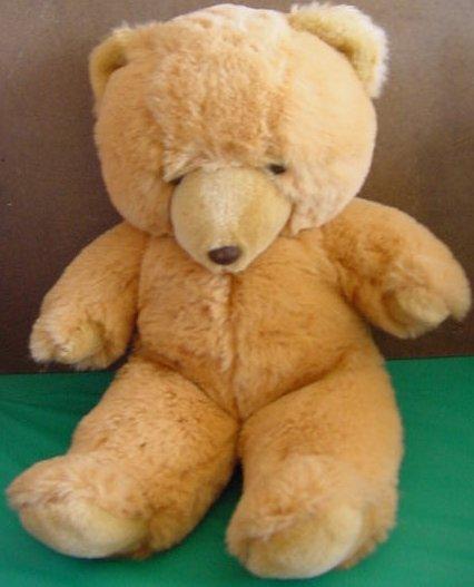 """Golden Brown Squishy Bear Plush Factory Stuffed 18"""""""