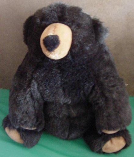 "Soft Classics Squishy Soft Black Bear Stuffed Plush 12"""