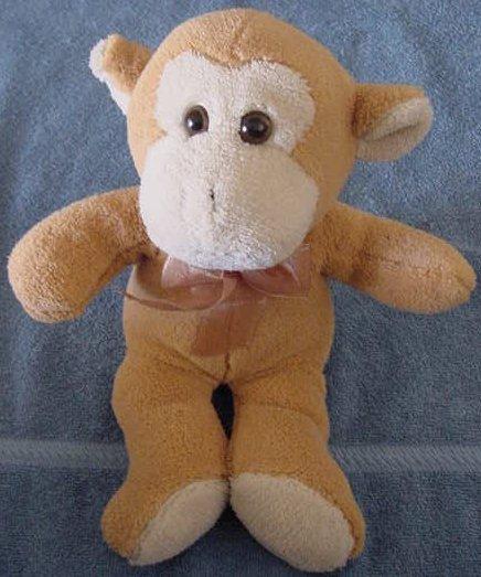 "Circus Circus Cute Tan & Beige Monkey Stuffed Plush 12"""