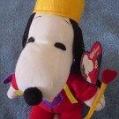 "Peanuts Snoopy Dog King Stuffed Plush 6"" Tag Whitman's"