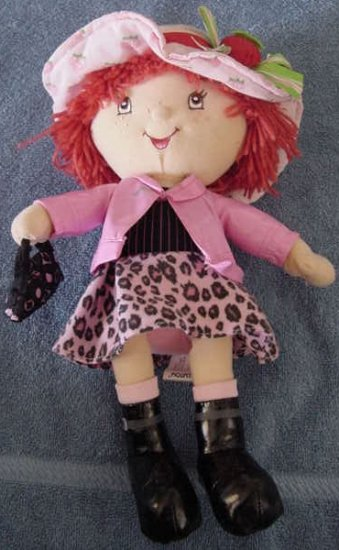 Strawberry Shortcake Pink Leopard Skirt Doll Plush 12""