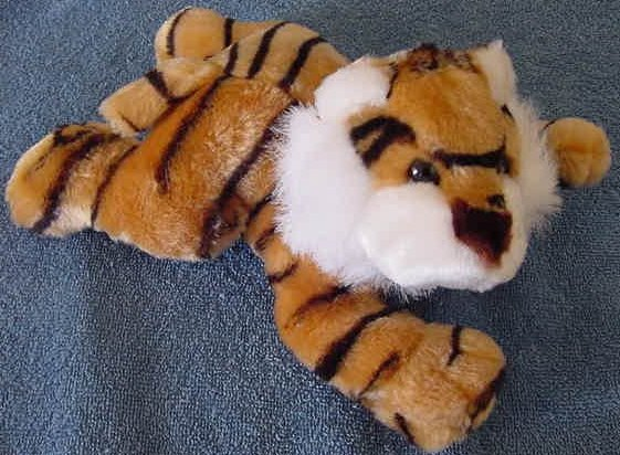 "Circus Circus Bengal Tiger Laying Down Stuffed Plush 9"""