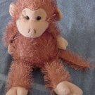 Lenovia Stringy Fur Chubby Brown Monkey Stuffed Plush