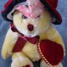 PBC International Yellow Bear Red Hat Stuffed Plush 7""