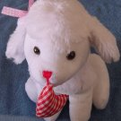 Tony Toy White Dog Gingham Heart Stuffed Plush 9""
