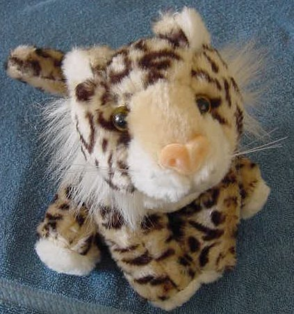 """Circus Circus Spotted Wild Cat Leopard Stuffed Plush 7"""""""