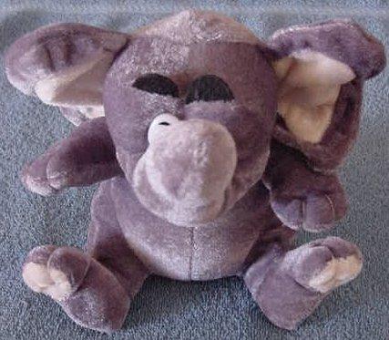 """Kuddle Me Toys Gray Elephant Kellytoy Stuffed Plush 6"""""""
