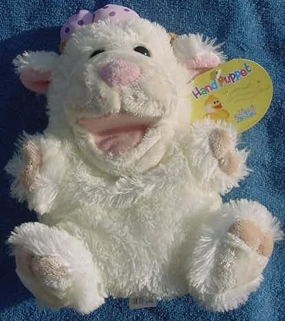 Snuggle Shop Singing Lamb Hand Puppet Stuffed Plush