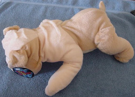 "Toy Works Pug or Wrinkly Dog Stuffed Plush 12"" Tag"