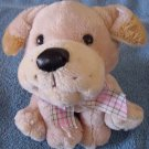 Fiesta Sitting Beige Puppy Dog Stuffed Plush 6""