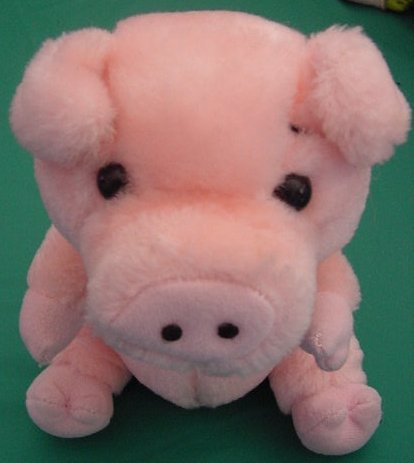 Fundamental Snorting Squeeze Pink Pig Stuffed Plush 7""