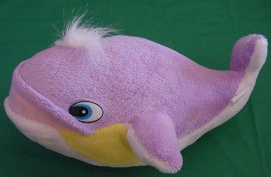 King Plush Cute Purple Yellow White Whale Stuffed Plush