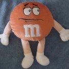 "M&M's Candy Orange Guy Stuffed Plush 10"" Chocolate"