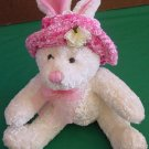 MTY International Bunny in Pink Hat Stuffed Plush 7""