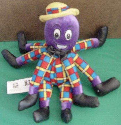 """The Wiggles Henry Octopus Beanie Stuffed Plush 8"""""""
