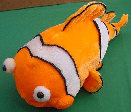 "Toy Factory Bug Eyed Clown Fish Stuffed Plush 10"""