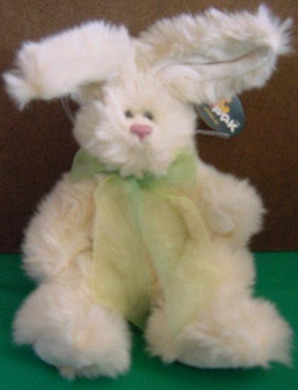 "Unipak Cream  Jointed Bunny Rabbit Pink Nose Stuffed Plush 10"""