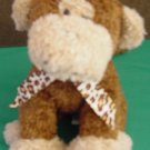 World Market Monkey with Sound Beanie Stuffed Plush