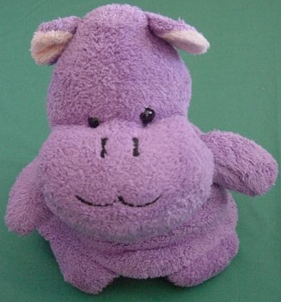 Hippo & Monkey Topsy Turvy Flip Toy Stuffed Plush 5""