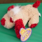 King Plush Beaniacs Beige & Red Dog Puppy Beanie Plush