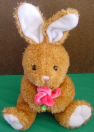 Chosun International Bunny with Flower Stuffed Plush
