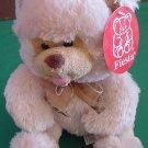 """Fiesta Biege Sitting Bear Paw Print Stuffed Plush 8"""""""