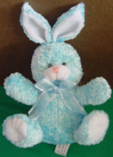 Atico International Blue Bunny Rabbit Stuffed Plush 5.5
