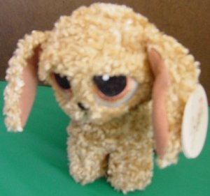 "Bestever Luv Ems Big Eyed Dog Puppy Beanie Plush 6"" Tag"