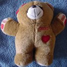 Snuggies Light Brown Heart Bear Stuffed Plush 7""