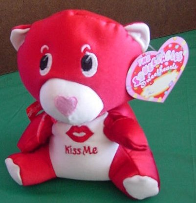 "Squeezables Sweethearts Red Bear Stuffed Plush 7"" Tag"